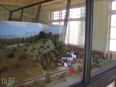 The Luray model railroad is in its own room at the Visitor Center.
