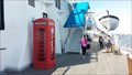 Image for Red Telephone Box on Promenade Deck of Queen Mary - Long Beach, CA