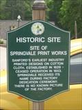 Image for Springvale Print Works - Springvale, ME.