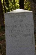 Image for 8th Kansas Volunteer Infantry Regiment Marker - Chickamauga National Military Park