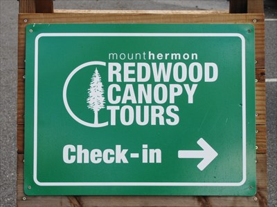 Check-in Sign, Mt. Hermon, CA