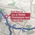 """Image for """"Vous êtes ici"""", """"Aire de Reims Champagne Nord"""" /FR"""