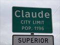 Image for Claude, TX - Population 1196
