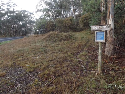 The location of the start of the track, and plaque for the sad location. [And geocache] 0800, Tuesday, 17 May, 2016