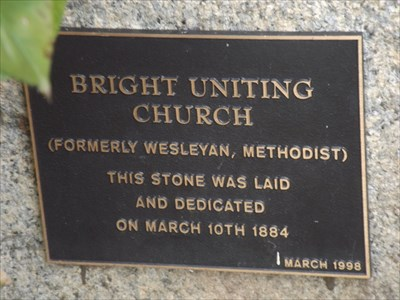 The Foundation Stone plaque, for the Wesleyan Methodist Church, March 10, 1884. 1610, Tuesday, 17 May, 2016