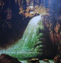 Image for Schwarzbachfall bei Golling (1876), by Anton Eggl - Golling, Austria