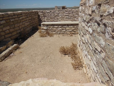 The small corral behind the building where spare mules and horses were kept.