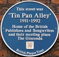 Image for 'Tin Pan Alley' Blue Plaque - Denmark Street, London, UK