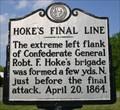 Image for Hoke's Final Line, Marker BBB-4