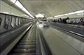 Image for London's longest escalator - Angel Underground Station, Islington, UK.