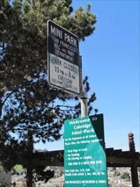 Coleridge MiniPark Sign, San Francisco, CA