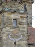 Image for Sundial on the Evangelical Lutheran Church, Pegnitz, Bayern, Germany