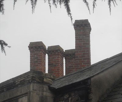 ...the three and one at the front of the Priory.