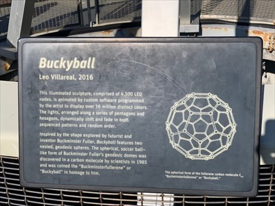 Buckyball Plaque, San Francisco, California