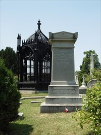 Matthew Fontaine Maury is buried just a few steps from the tomb of President James Monroe. The grave of President John Tyler is to the immediate left and not visible in this photo.