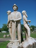 Image for Ironwood Michigan Train Depot carvings-Ironwood, MI