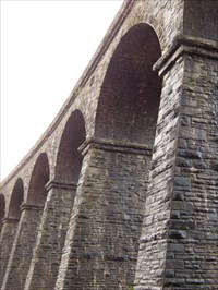 Bargoed Railway Viaduct, Wales.