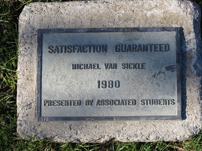 Satisfaction Guaranteed Plaque, Foothill College, Los Altos Hills, CA