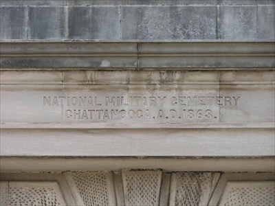 This is the inscription on the Memorial Arch in the Chattanooga National Cemetery.