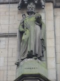 Image for Title	Monarchs – King Edward II of England on side of city hall - Bradford, UK