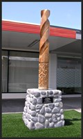 Image for Tuwiri Sculpture.  Turangi Town Centre. North Is. New Zealand.