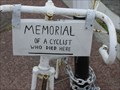 Image for Ghost bike memorial, Avondale, Auckland. New Zealand.