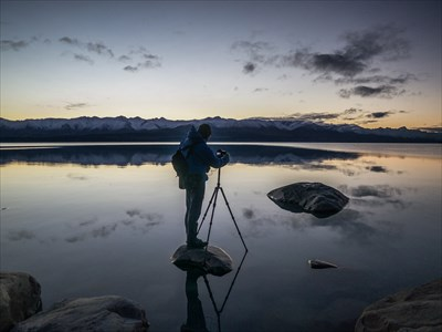 Dawn from a camp beside Lake Pukaki