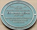 Image for Edward Lear - 200 years - Stratford Place, London, UK