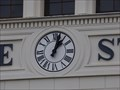 Image for Town clock Bayerischer Bahnhof - Leipzig, Saxony, Germany