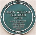 Image for John William Polidori - Great Pulteney Street, London, UK
