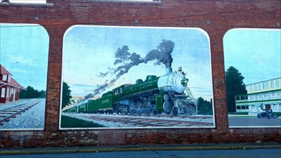 Thomasville Train History Mural (I used a little bit of contrast in this photo to enhance the image)