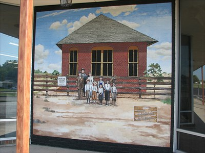 """This school house was the farthest west of old Fort Worth. Ranching & Farming families in the Camp Bowie vicinity schooled their children there. About 1920 it was remodeled into a home. It is still at the corner of Prevost and Pershing streets."""
