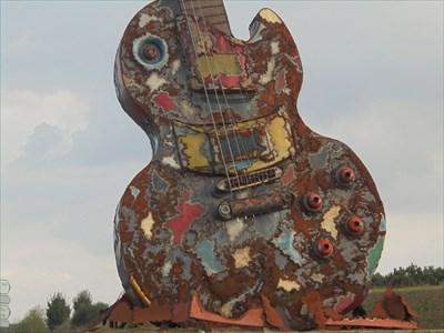 Vue de la caisse de la guitare