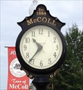 Image for McColl, SC Town Clock, USA