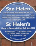 Image for St Helen's - Blue Plaque - Swansea, Wales.