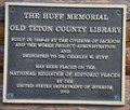 Image for Huff Memorial Library ~ Jackson, Wyoming