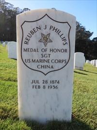 Reuben Jasper Phillips Marker Stone, San Francisco National Cemetery