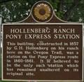 Image for Hollenberg Ranch Pony Express Station - Hanover, Kansas