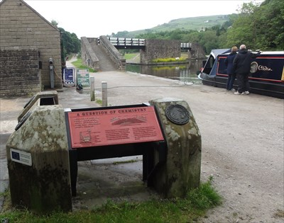 This and the other sign are on the canal bank at the approach to the canal basins. The bridge in the background was used to allow horses to cross over side arms of the canal and carry on along the main part without disconnecting the tow rope.