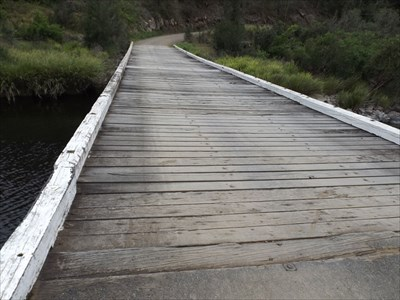 Tiri Creek Bridge, over the Manning River, NSW. Not much of a