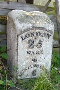 Image for Milestone - Ermine Street / High Road, Colliers End, Hertfordshire, UK.