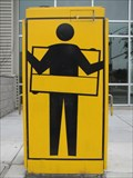 Image for Man Holding Frame Around Himself - Emeryville, CA