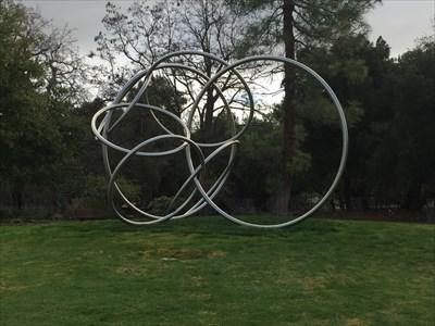 Circles looking E, Saratoga, California