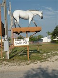 Image for Fiberglass Horse on a Pole - Castroville, Texas