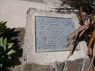 Fremont - Foxen Memorial - Gaviota, California