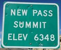 Image for New Pass Summit - Elevation 6348 feet