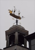 Image for A fully rigged 18th Century warship, Guildhall, Rochester. Kent. UK