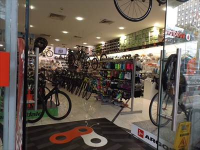 Looking into the bikebug store at North Sydney. 1201, Friday, 10 March, 2017
