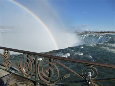 Niagara River immediately above the Horseshoe Falls - the source of power for the Toronto Powerhouse