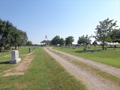 Shot across the cemetery, looking south, from just inside the gate.